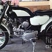 Honda Benley S110 Cafe Racer 1975 Restored Poster