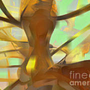 Honey Pastel Abstract Poster