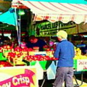 Honeycrisp Apples Fruit Stand Marcel Les Pommes St Joseph Du Lac  Food Art Scenes Carole Spandau Poster