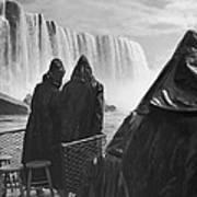Honeymooners At Niagara Falls Poster