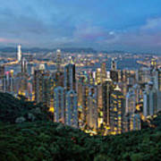 Hong Kong From Sky Terrace 428 At Victoria Peak Poster