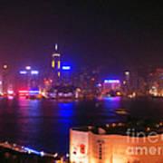Hong Kong Skyline Poster by Pixel  Chimp