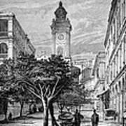 Hong Kong Street Scene, 1880s Poster