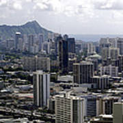 Honolulu - Diamond Head - Pacific Poster
