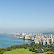 Honolulu From Atop Diamond Head State Poster