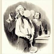 Honoré Daumier French, 1808-1879, Les Crêpes Poster