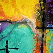 Hope - Colorful Abstract Art By Sharon Cummings Poster