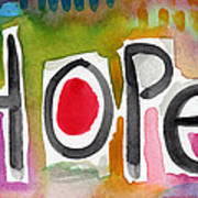 Hope- Colorful Abstract Painting Poster