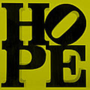 Hope In Yellow Poster