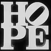 Hope Inverted Black Poster