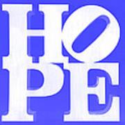 Hope Inverted Blue Poster