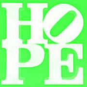Hope Inverted Green Poster