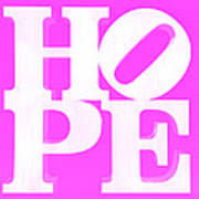 Hope Inverted Pink Poster