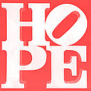 Hope Inverted Red Poster