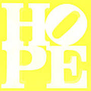 Hope Inverted Yellow Poster