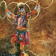 Hopi Hoop Dancer Poster