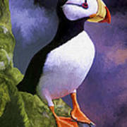 Horned Puffin Poster