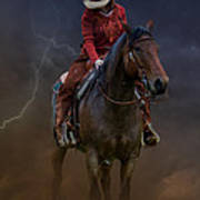 Horse And Rider Poster