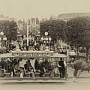 Horse And Trolley Main Street Disneyland Heirloom Poster