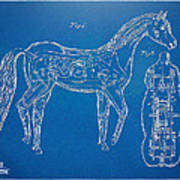 Horse Automatic Toy Patent Artwork 1867 Poster by Nikki Marie Smith
