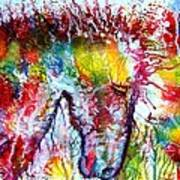 Horse In Abstract Poster