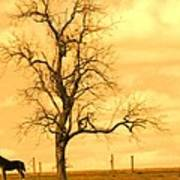 Horse On The Hill Poster