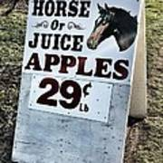 Horse Or Juice Apples Poster