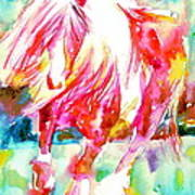 Horse Painting.22 Poster