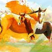 Horse Paintings 013 Poster