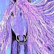 Horse Pale Purple 2 Poster