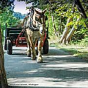 Horse Powered Mackinac Island Poster