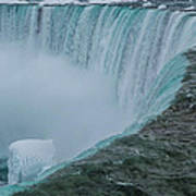 Horseshoe Falls Ice Formations Poster