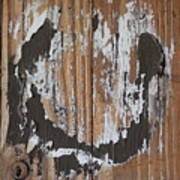 Horseshoe Print Wood Poster