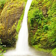 Horsetail Falls In The Spring Poster