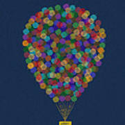 Hot Air Balloon Poster by Aged Pixel