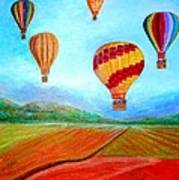 Hot Air Balloon Mural  Poster by Anais DelaVega