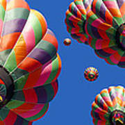 Hot Air Balloon Panoramic Poster by Edward Fielding