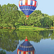 Hot Air Balloon Reflection Poster