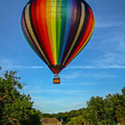 Hot Air Balloon Woodstock Vermont Poster by Edward Fielding