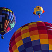 Hot Air Balloons Launch Poster