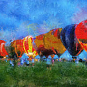 Hot Air Balloons Photo Art 01 Poster
