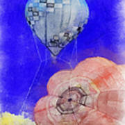 Hot Air Balloons Photo Art 03 Poster