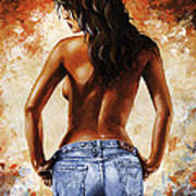 Hot Jeans 02 Blue Poster