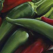 Hot Peppers Poster by Natasha Denger