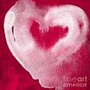 Hot Pink Heart Poster