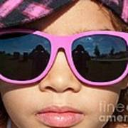 Hot Pink Sunglasses Poster
