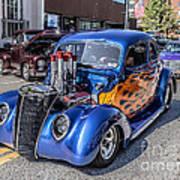 Hot Rod Car Poster