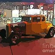Hot Rod Icon Poster