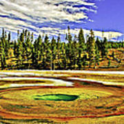 Prismatic Geyser Yellowstone National Park Poster