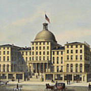 Hotel Burnet Circa 1850 Poster by Aged Pixel